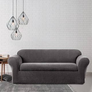 sure fit stretch metro two piece grey sofa