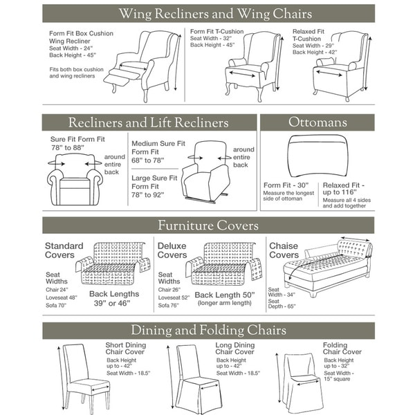 Sure Fit Stretch Metro Two Piece Grey Sofa Slipcover Free