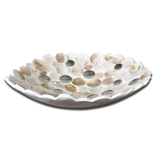 Uttermost Capiz Shell Accented Decorative Bowl