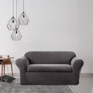 Sure Fit Stretch Metro Two-piece Grey Loveseat Slipcover|https://ak1.ostkcdn.com/images/products/7538766/P14973917.jpg?impolicy=medium