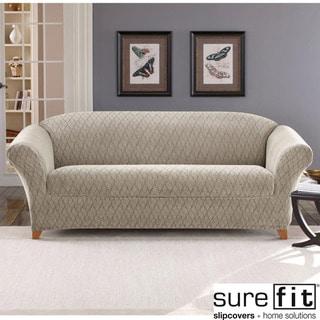 Stretch Braid Pebble Sofa Slipcover