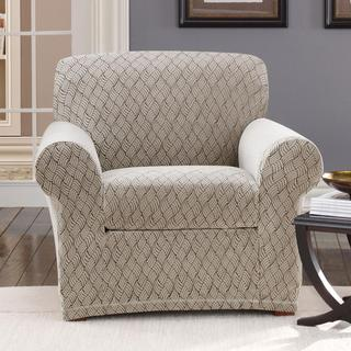 Sure Fit Stretch Braid Pebble Chair Slipcover