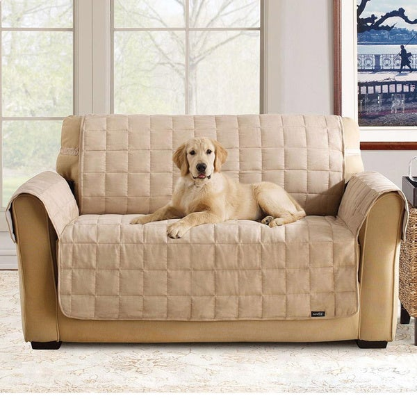 Sure Fit Soft Suede Waterproof Sofa Protector Free