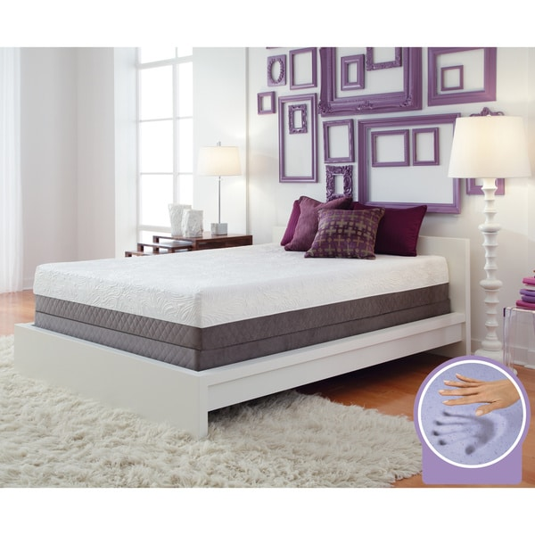 Optimum by Sealy Posturepedic Gel Memory Foam Inspiration Queen Mattress Set