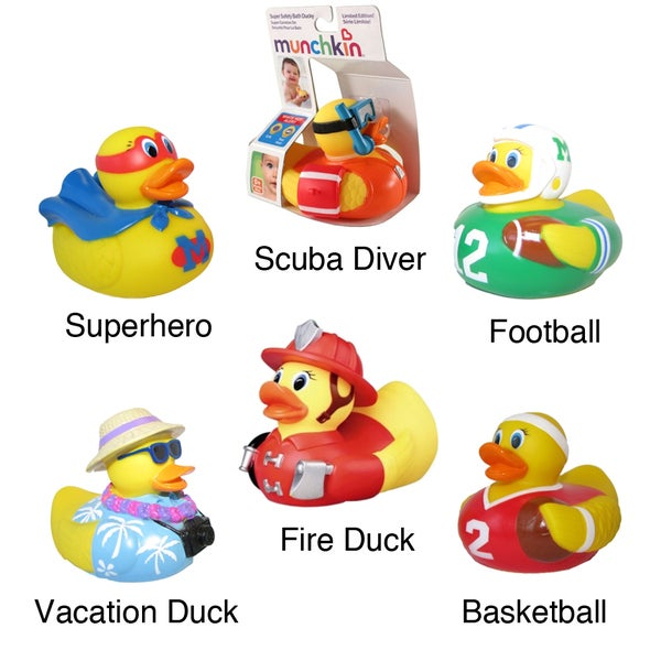 Munchkin White Hot Super Safety Bath Ducky (Boy Designs)