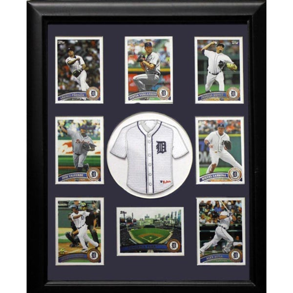 Detroit Tigers Mini Jersey Frame with Cards (12 x 18)