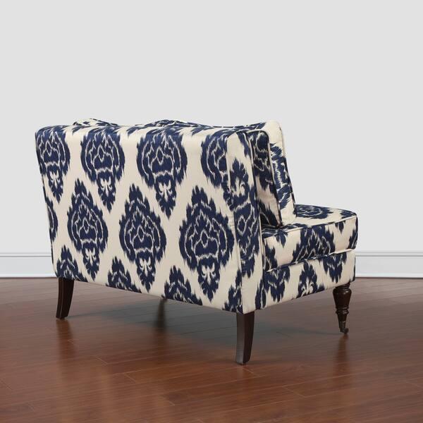 Stupendous Shop Cassidy Indigo Ikat Loveseat Free Shipping Today Inzonedesignstudio Interior Chair Design Inzonedesignstudiocom