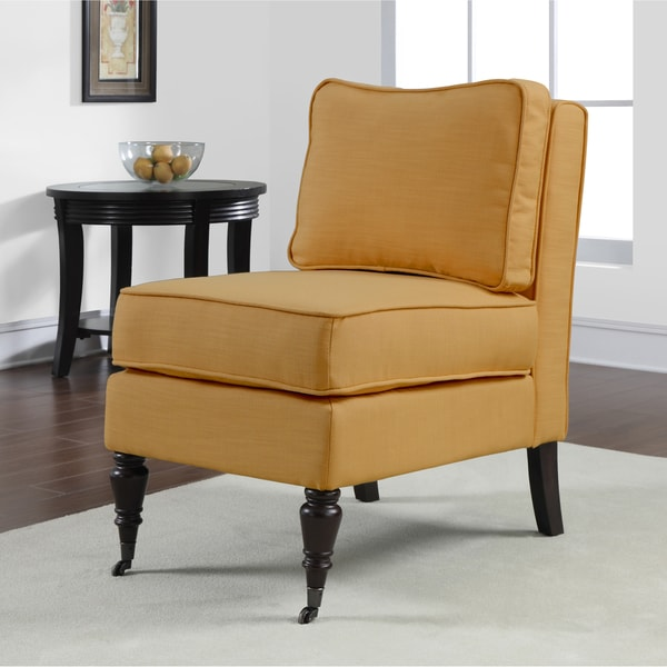 Cassidy French Yellow Armless Chair