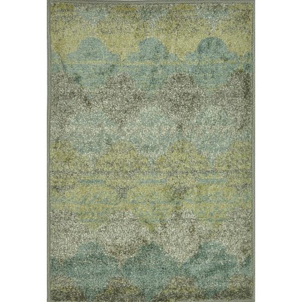 Arrakis Sea/ Taupe Rug (2'0 x 3'0)