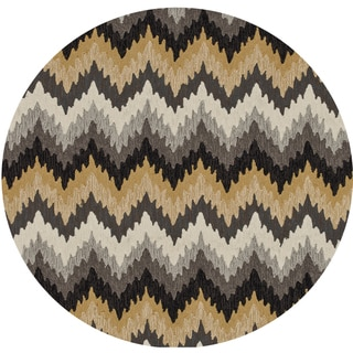 Hand-hooked Charlotte Grey/ Multi Rug (3' x 3')