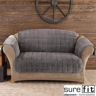 Sure Fit Deluxe Dark Grey Pet Sofa Cover