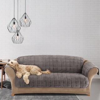 Sure Fit Deluxe Dark Grey Pet Sofa Cover