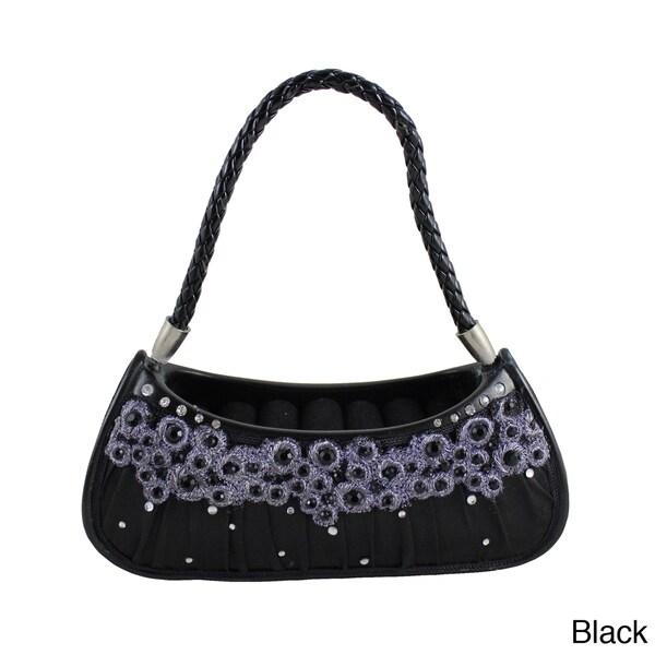Jacki Design Dazzling Gems Handbag Ring Holder