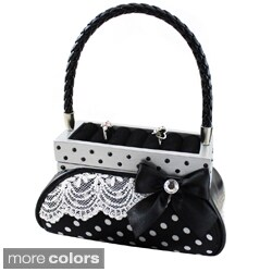 Jacki Design Polka Dot Handbag Jewelry Holder
