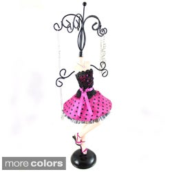 Jacki Design Polka Dot Mannequin Jewelry Holder