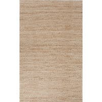 "Trainor Natural Solid Tan/ White Area Rug (2'6"" X 4') - 2'6"" x 4'"