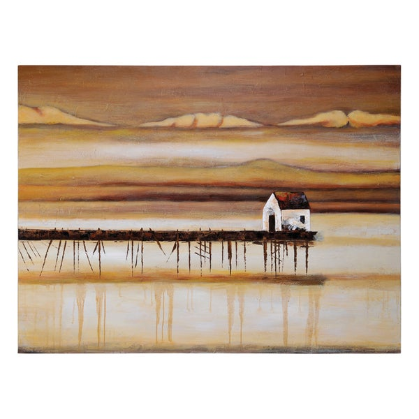 Lecavalier ' On a Pier ' Hand Painted Canvas