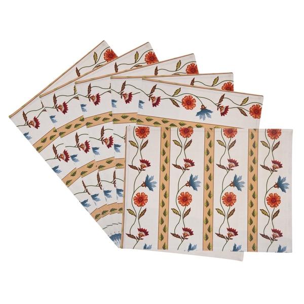 Rose Tree Market Stripe Placemats (Set of 6)