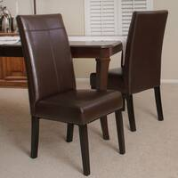 Lissa Chocolate Brown Polyurethane Dining Chair (Set of 2) by Christopher Knight Home