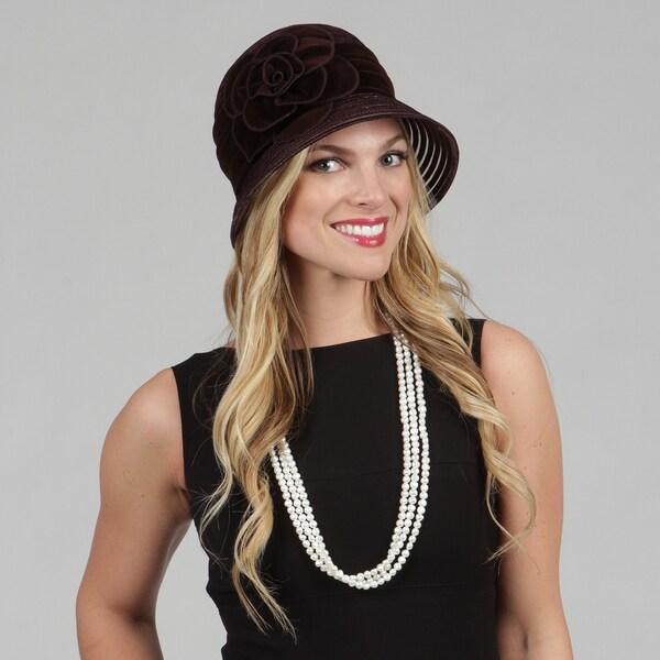 Swan Women's Velvet Cloche Packable Hat