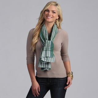 Classic Green Checkered Cotton Scarf