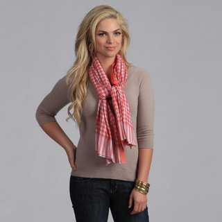 Classic Red Checkered Cotton Scarf