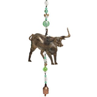 Handmade Take the Bully By The Horns Wind Chime (India)