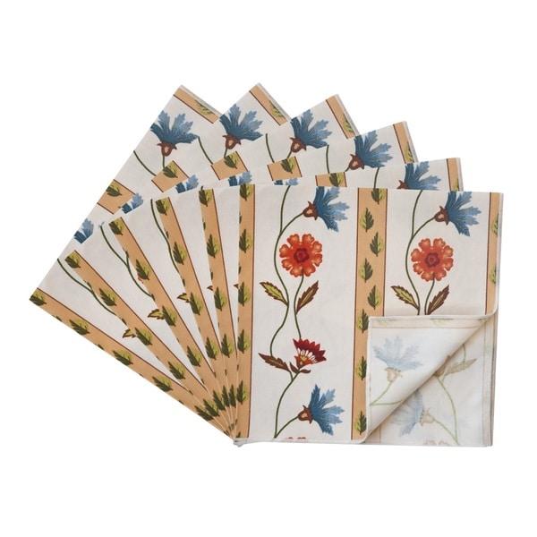 Rose Tree Market Stripe Napkins (Set of 6)
