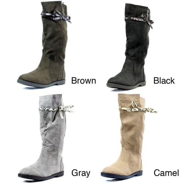 Stanzino Women's Tie-detail Mid-calf Boots