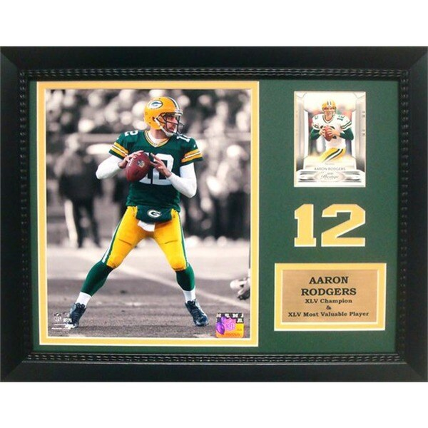 Green Bay Packers Aaron Rodgers Deluxe Photo/Stat Frame (11 x 14)