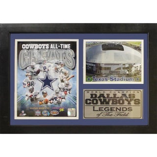 Dallas Cowboys All-Time Greats 12 x 18 Photo Stat Frame Featuring Texas Stadium
