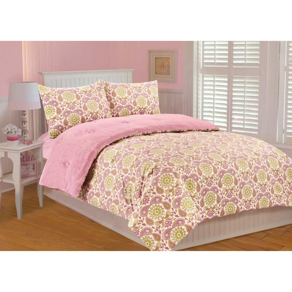 Paisley Reversible 3-piece Comforter Set