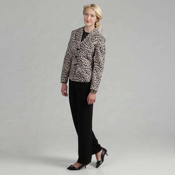 Danillo Women's Animal Print Notched-collar Pant Suit