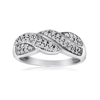 10k White Gold 1/4ct TDW Diamond Twist Ring