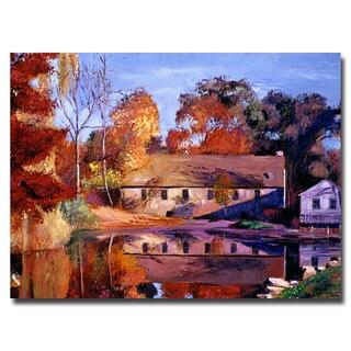 David Lloyd Glover 'Reflections of a Millhouse' Canvas Art