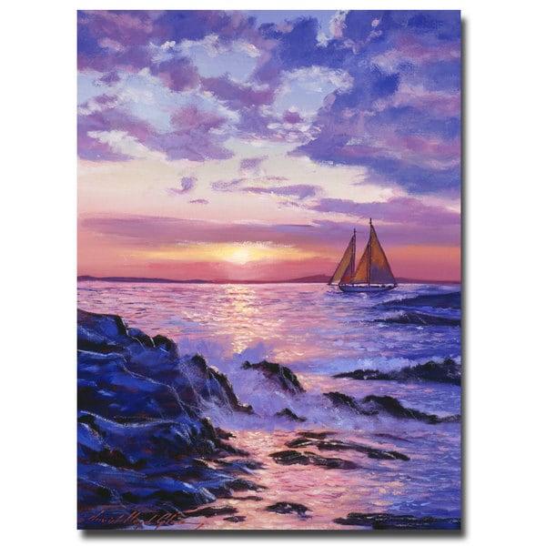David Lloyd Glover 'Sail at Dawn' Canvas Art