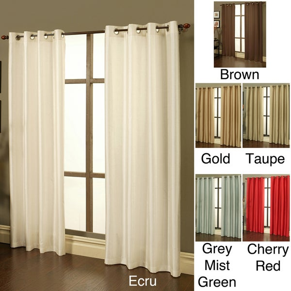 Sherry Kline Faux Silk Grommet Top 84-inch Window Panel Pair