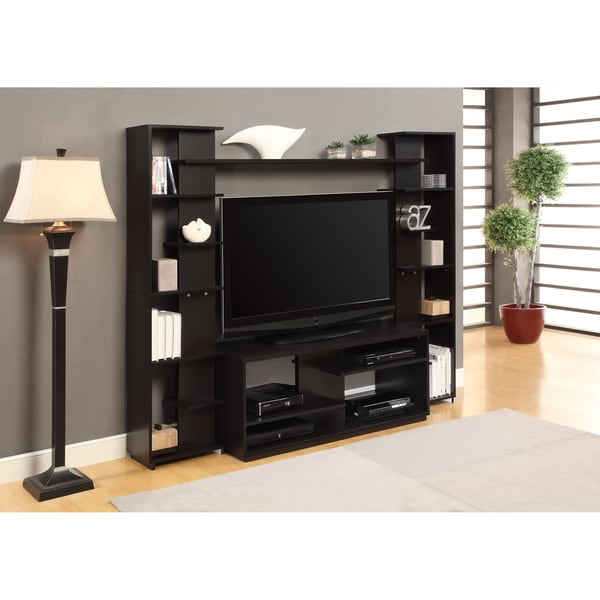 Altra home entertainment center with reversible back panel Home entertainment center