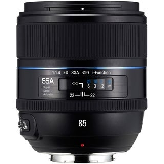 Samsung - 85 mm - f/1.4 - Fixed Focal Length Lens for Samsung NX
