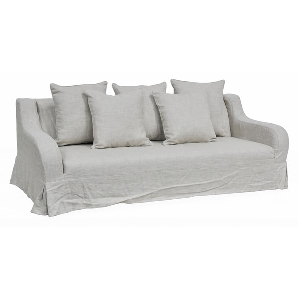 Kosas Home Melrose Natural Linen Sofa