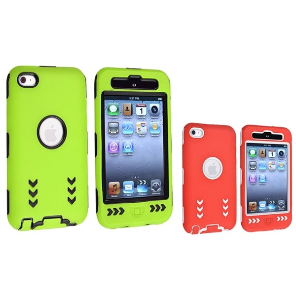 BasAcc Hybrid Case for Apple iPod Touch 4th Generation (Pack of 2)