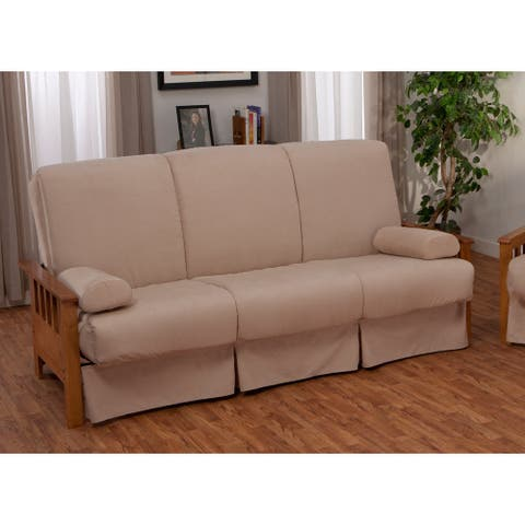 Provo Perfect Sit & Sleep Mission-style Pocketed Coil Pillow Top Sofa Queen-size Sleeper Bed