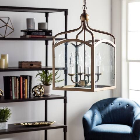 Ashley Bronze 4-light Foyer Hanging Lantern - N/A
