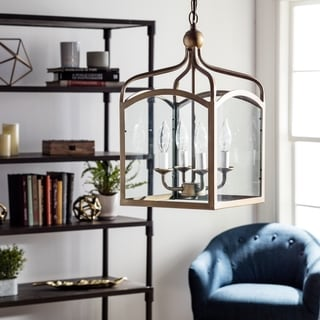 Link to Ashley Bronze 4-light Foyer Hanging Lantern - N/A Similar Items in Chandeliers