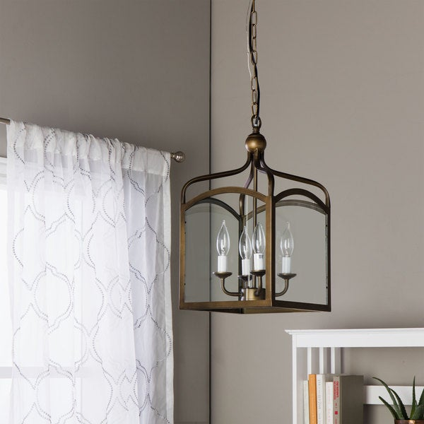 Ashley bronze 4 light foyer hanging lantern