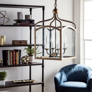 Ashley Bronze 4-light Foyer Hanging Lantern