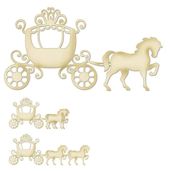 """CottageCutz Die 4""""X6""""-Horse & Carriage Made Easy"""