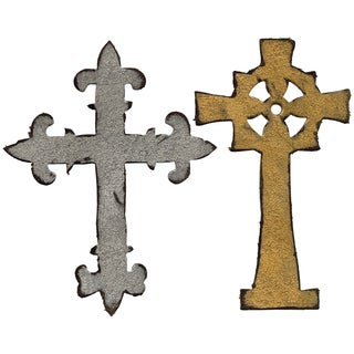 Sizzix Bigz Die By Tim Holtz-Ornate Crosses