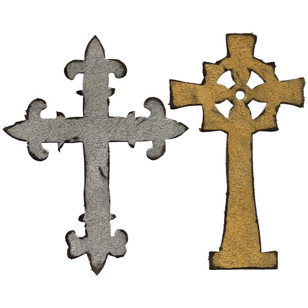 Sizzix Bigz Die By Tim Holtz-Ornate Crosses