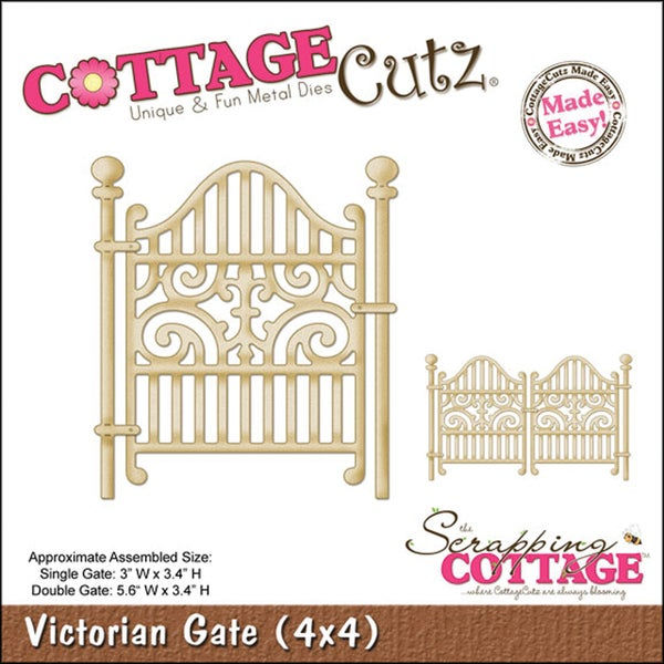 "CottageCutz Die 4""X4""-Victorian Gate Made Easy"